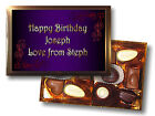 PERSONALISED GIFT BOX SUGAR FREE/DIABETIC CHOCOLATES ANY NAME/MESSAGE/OCCASION