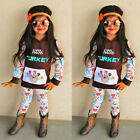 New Baby Girls Boys Hoodie Tops + Pants Winter Autumn 2PCs Outfits Set Tracksuit