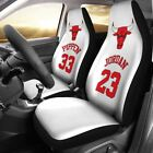 Chicago Bulls pair of car seat Covers customizable on eBay