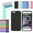 Anti-Knock Candy Color Silicone 7 Luxury Case for iPhone 6 6s+Screen saver