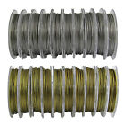 100 Metres Silver Gold Tigertail Wire 0.45mm - Beading Wire Jewellery