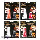 Davies Products Halloween Makeup Face Paint Tube Red White Black Orange Cosmetic