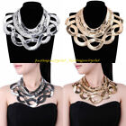 Fashion Tribal Gold Silver Metal Snake Chain Chunky Statement Choker Necklace