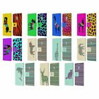 PATTERNED ANIMAL SILHOUETTES LEATHER BOOK WALLET CASE FOR MICROSOFT NOKIA PHONES