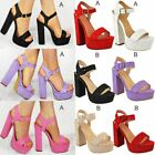 New Womens Summer Platform High Heel Sandals Ladies Open Toe Strappy Party Shoes