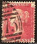 1858-79 1d ROSE-RED USED SG43/44 Plates 161-180