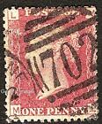 1858-79 1d ROSE-RED USED SG43/44 Plates 201-220