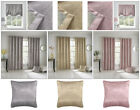 Halo Thermal Lined Block Out Eyelet Curtains Metallic Bling Ring Top Pairs
