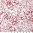 "QT MARY ENGELBREIT 24253R ""MARY'S MOTTOS"" SAYINGS WORDS FABRIC- SELECT SIZE"