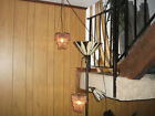 2 Anthopologie Purple Glass Cyrstral Chandlier looking Accent Light Fixtures