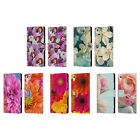 HEAD CASE DESIGNS FLOWERS LEATHER BOOK WALLET CASE COVER FOR SONY PHONES 1
