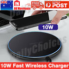 iPhone X Wireless Charger Fast Wireless Charger Charging Pad for Samsung Galaxy