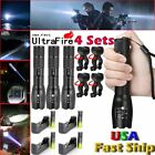 X800 Tactical 50000LM 5 Modes T6 LED Flashlight+18650+Charger+Bike Mount Torch
