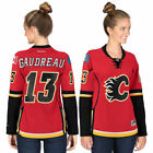 Reebok Johnny Gaudreau Calgary Flames Womens Red Premier Player Jersey