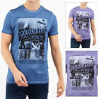 Brave Soul Mens Ozzy Cotton Short Sleeved Graphic Printed T Shirts Casual Tees