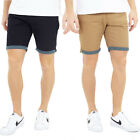 Brave Soul Mens Hansenspot Chino Shorts Luxury Cotton Summer Turn Up Bottoms