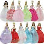 BARBIE DOLL CLOTHING SET 10x BALL GOWN WEDDING DRESSES 10x SHOES 5x ACCESSORIES