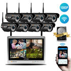Wireless HD 1080P 2MP HD NVR Kit 8CH WIFI Security IP Camera Home CCTV System