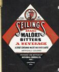 Unused 1940s ILLINOIS Chicago National Cordial SEILINGS MALORT PITTERS Label