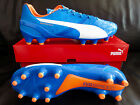 Puma evoSPEED 1.4 FG/Herrenschuh/blau/weiß/orange/10326403
