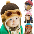 Baby Winter Warm Cap Hat Beanie Pilot Aviator Baby Pilot Soft Hat