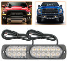 2X 4X LED Vehicle Strobe Flash Side Light Emergency Warning Flashing Lamp Amber