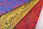 "BY 100CM X 28""WIDE TIBETAN DAMASK JACQUARD BROCADE DRAGON ROBE OCEAN WAVE FABRIC"