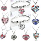 Mom Sister Grandma Love Heart Daughter Gifts Party Women Necklace Bracelets New