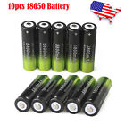 10X Rechargeable Li-lon 18650 3.7V Battery & Smart Charger For Flashlight Torch