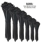 QUALITY BLACK CABLE TIES / ZIP WRAPS LONG SHORT Thick Thin Narrow Small Fastener <br/> ✔ Quality Ties ✔ UK Seller ✔ Same Day Post ✔ Best Price