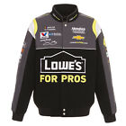 2018 Authentic Jimmie Johnson JH Design Lowes Full Snap  Jacket Black Charcoal