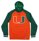 Adidas NCAA Men's Miami Hurricanes Sideline Player Hoodie, Orange