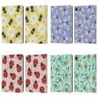 HEAD CASE DESIGNS WATERCOLOUR INSECTS LEATHER BOOK WALLET CASE FOR APPLE iPAD
