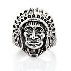 NEW sell 316l stainless steel Indian Fashion Punk design ring US size11 A04