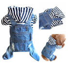 Cute Small S Blue Denim Dog Jean Outfits Pointers Boxers Collies Cheap