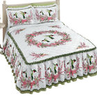 Hummingbirds & Floral Wreath Bedspread, by Collections Etc image