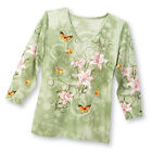 Women's Spring Lily Embellished Top, by Collections Etc