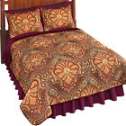 Malta Spice Reversible Damask & Paisley Quilt, by Collections Etc image