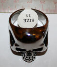 Keith Richards Style Skull Ring. Keef Rolling Stones Accessory. Surgical Steel.Rings - 137856