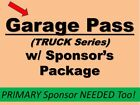 ELDORA - NASCAR Truck Team package w/ Decal & Garage Pass.