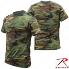 Men's Camo Short Sleeve T-Shirt - Rothco Poly/Cotton Woodland Camo Tee image