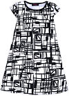 Girls New A-line Abstract White And Black Dress Kids Party Sun Dresses Age 7-11Y