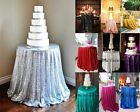 """48""""-132"""" Round Sequin Table Tablecloths for Wedding Dessert Dinning/Event/Party"""