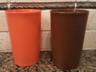 New Tupperware Autumn Harvest Textured Tumblers Set of Two Stackable # 1321 New