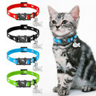 Cute Paw Print Personalised Breakaway Cat Collars & Tag set Safety Quick Release