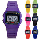 Men Women Electronic LED Digital Multifunction Plastic Sport Wrist Watch Cheaply image