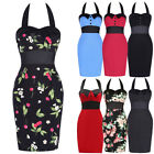 CHEAP~Women Vintage 50s Pinup Swing Halter Evening Party Bodycon Pencil Dresses