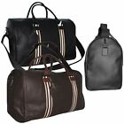 Large Faux Leather Bag Sports Gym Travel Golf Luggage Holdall Weekend Duffle