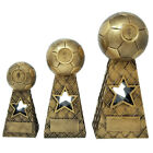 Gold Soccer Star Ball / Net Trophy by DECADE AWARDS