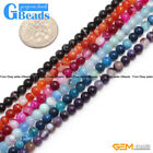 """4mm Stripe Agate Onyx Gemstone Round Beads For Jewelry Making Free Shipping 15"""""""